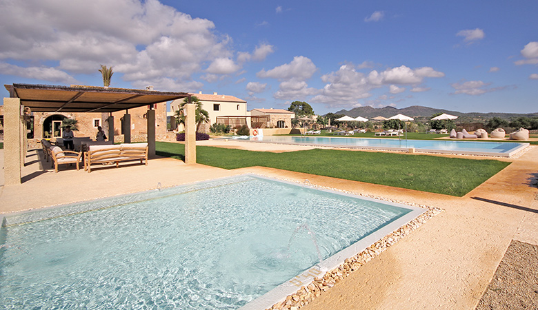 Es Lligats private villas with kitchens two swimming pools and hotel facilities